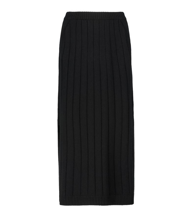 Loro Piana Duca D'Aosta cashmere midi skirt in black