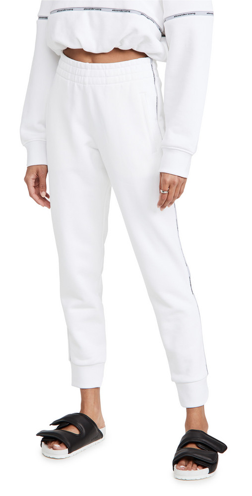 alexanderwang.t Slim Track Sweatpants in white