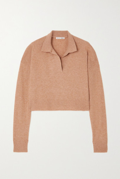 Reformation - Cropped Cashmere Sweater - Camel