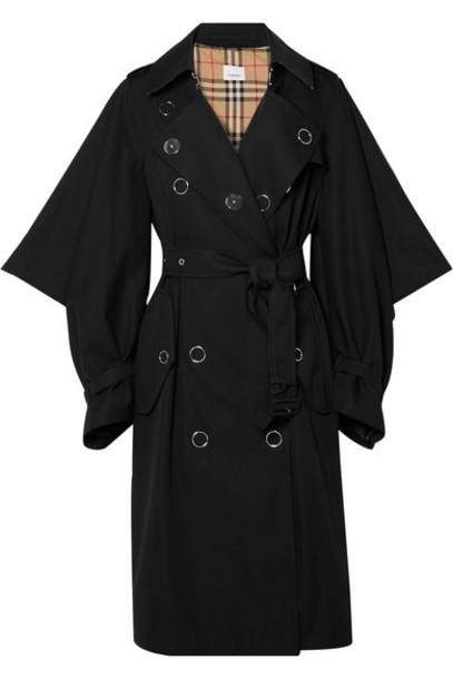 Burberry - Cotton-gabardine Trench Coat - Black