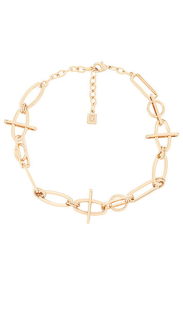 DANNIJO You Me Necklace in Metallic Gold