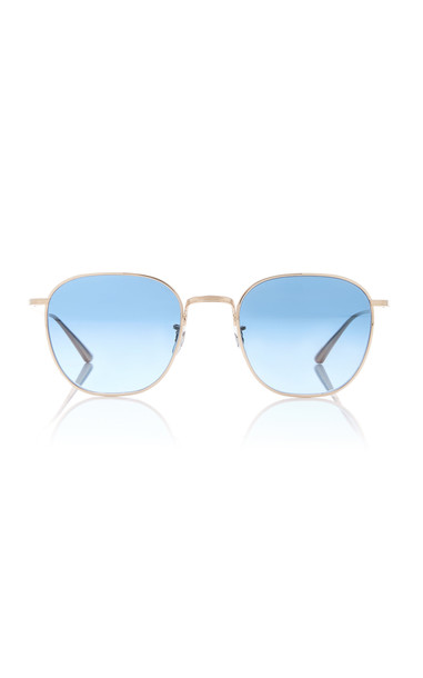Oliver Peoples THE ROW Brownstone Round Metal Sunglasses in blue