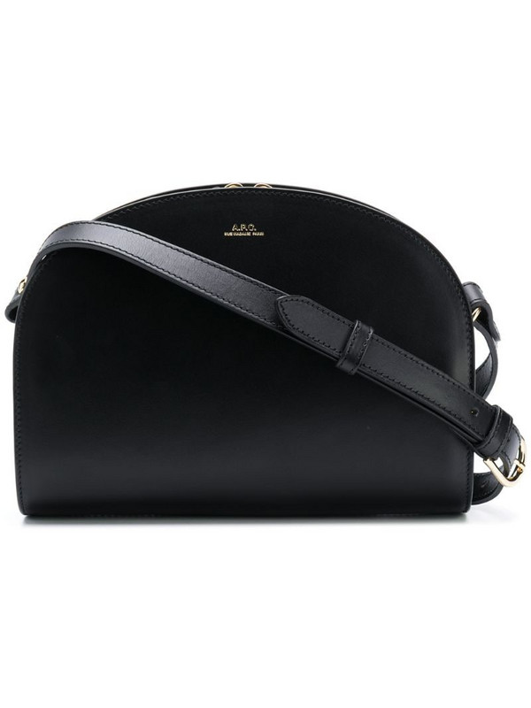 A.P.C. Half-moon shoulder bag in black