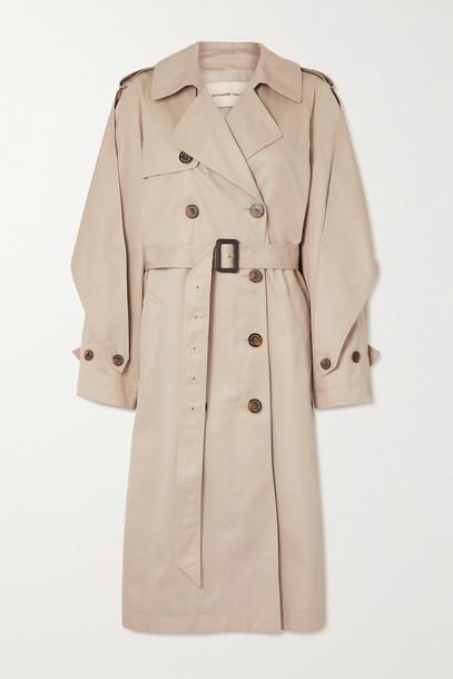 ALEXANDRE VAUTHIER - Cotton-gabardine Trench Coat - Neutrals