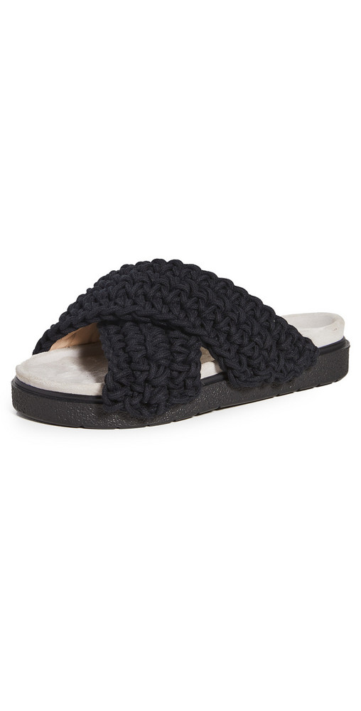 Inuikii Woven Platform Sandals in black