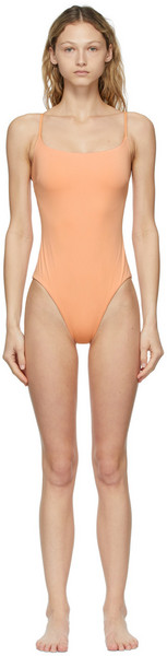 BONDI BORN Orange Rose One-Piece Swimsuit in peach