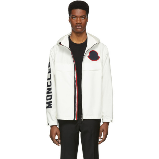Moncler White Montreal Zip-Up Jacket