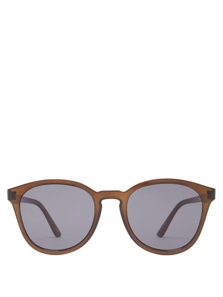 Le Specs - Renegade Round Frame Acetate Sunglasses - Womens - Black