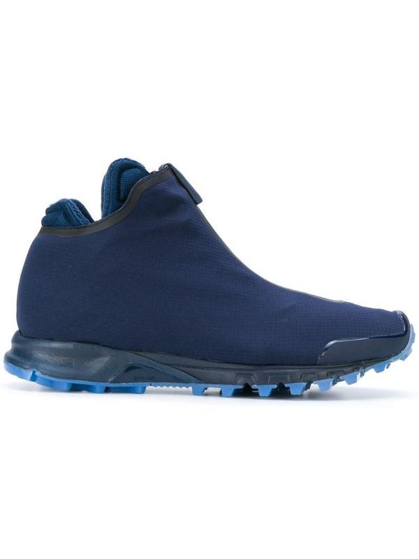 Reebok zipped sneakers in blue