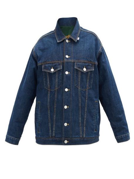 Martine Rose - Reversible Oversized Denim Jacket - Womens - Denim