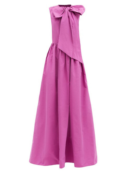Valentino - Bow Cotton-blend Faille Gown - Womens - Pink