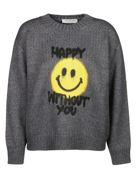 Philosophy di Lorenzo Serafini Happy Without You Sweater in grey