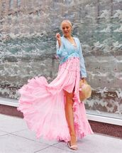 dress,maxi dress,asymmetrical dress,long sleeve dress,sandals,hat