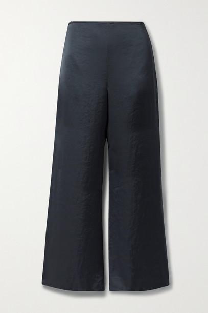 Theory - Satin Wide-leg Pants - Blue