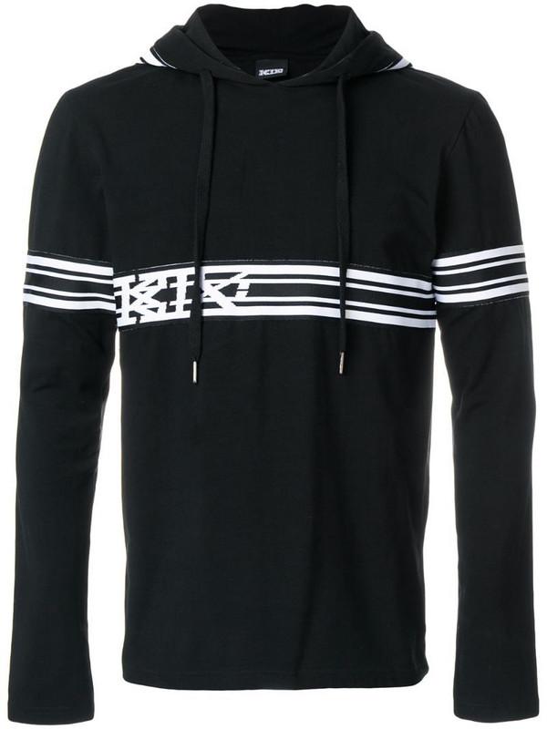 KTZ striped hoodie in black