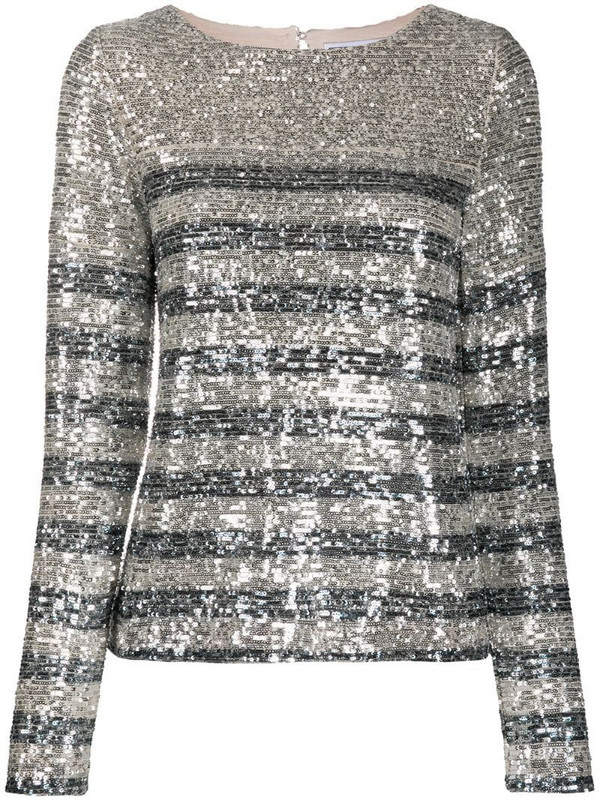 In The Mood For Love Carita sequin blouse in silver