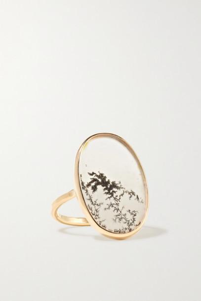 Melissa Joy Manning - 14-karat Gold Agate Ring