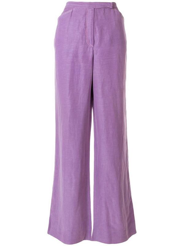 Emanuel Ungaro Pre-Owned wide leg trousers in purple