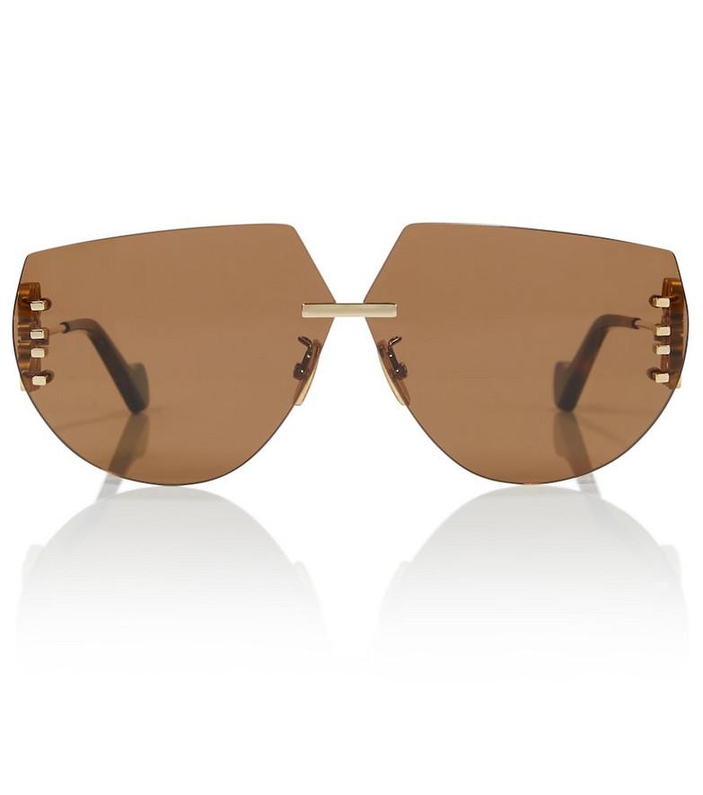 Loewe Anagram oversized sunglasses in gold