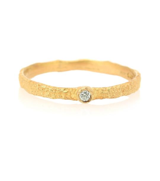 Elhanati Roxy Love 18kt gold ring with green diamond