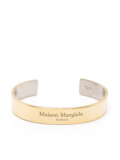 Maison Margiela logo embossed cuff in gold