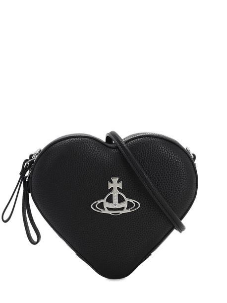 VIVIENNE WESTWOOD Johanna Heart Crossbody Bag in black