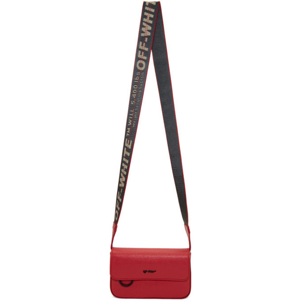 Off-White Red Flap Crossbody Bag