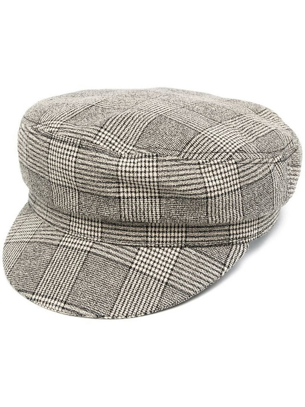 Isabel Marant checked beret in neutrals