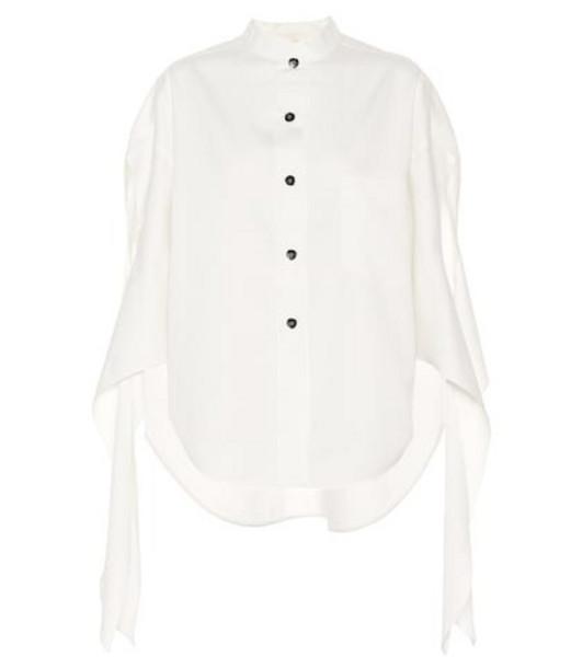 Petar Petrov Burr cotton and silk twill shirt in white