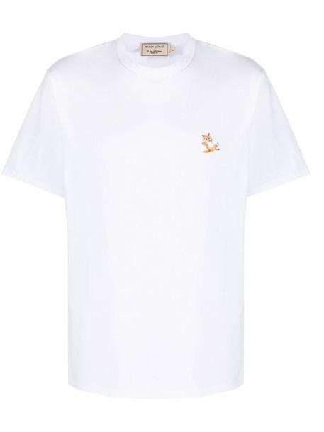 Maison Kitsuné applique cotton T-shirt in white