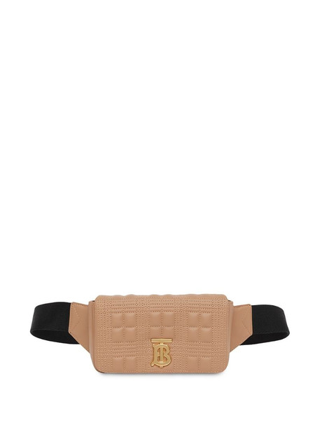 Burberry Lola quilted belt bag in brown