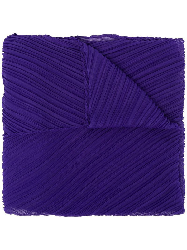 Pleats Please Issey Miyake pleated scarf in blue