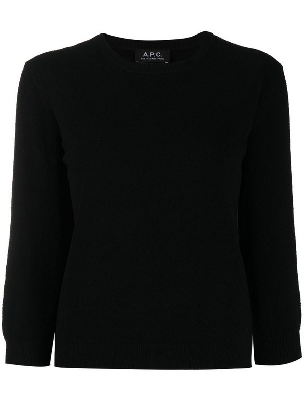 A.P.C. crewneck jumper in black