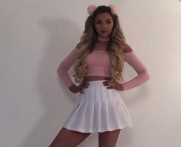 skirt pink grunge pastel grunge white girly sophia mitchell blouse