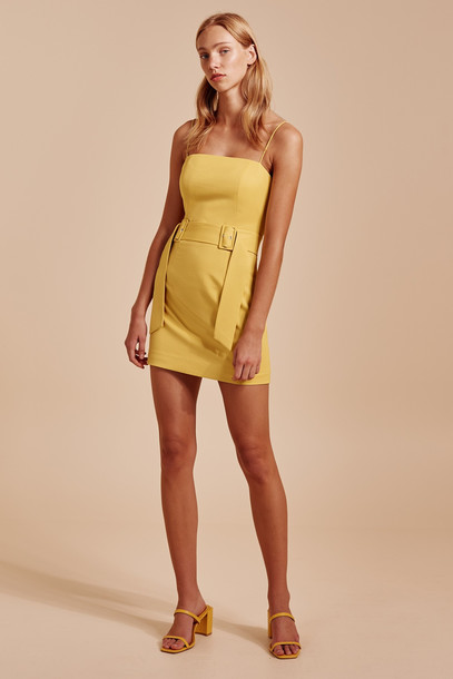 C/MEO COLLECTIVE SILENCED DRESS yellow