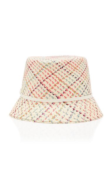 Yestadt Millinery Woven Straw Bucket Hat Size: L in multi