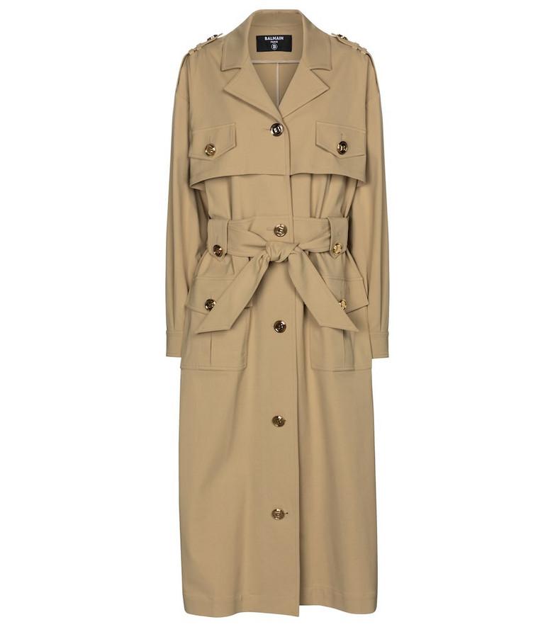 Balmain Trench coat in beige