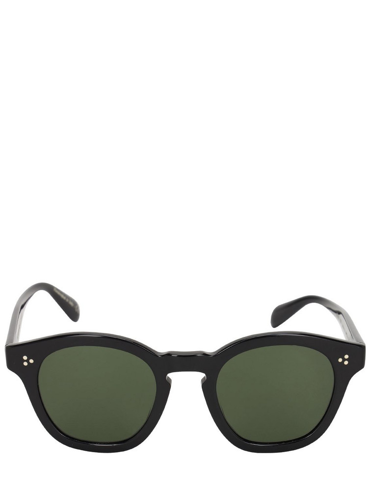 OLIVER PEOPLES Boudreau L.a Round Acetate Sunglasses in black