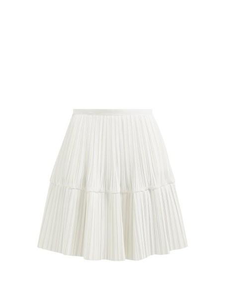 Jil Sander - Gyn Pleated Poplin Skirt - Womens - White