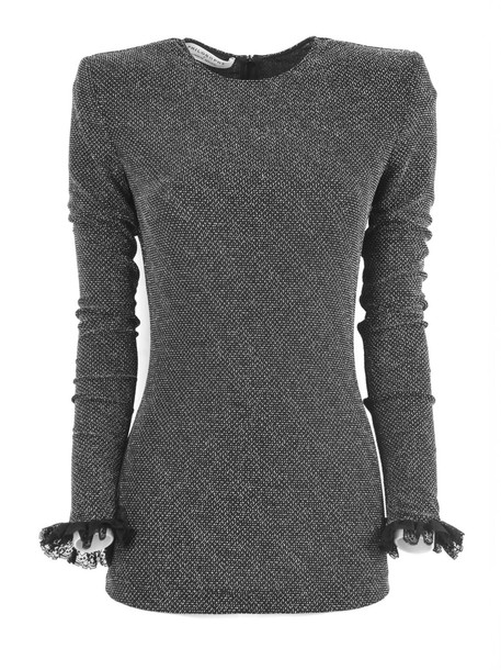 Philosophy di Lorenzo Serafini Black Fabric Blouse