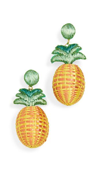 All Things Mochi Penny Earrings in orange / yellow