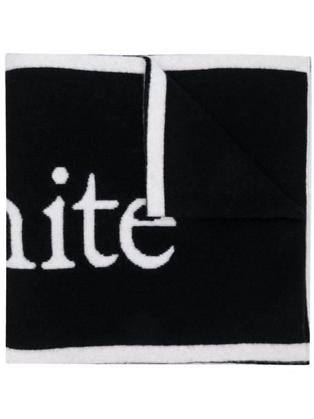 Off-White intarsia-logo scarf in black