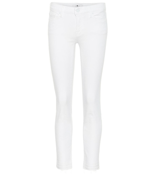 7 For All Mankind Pyper mid-rise skinny jeans in white