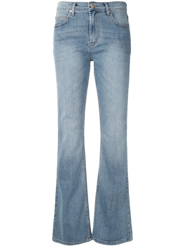 Eva bootcut denim trousers in blue