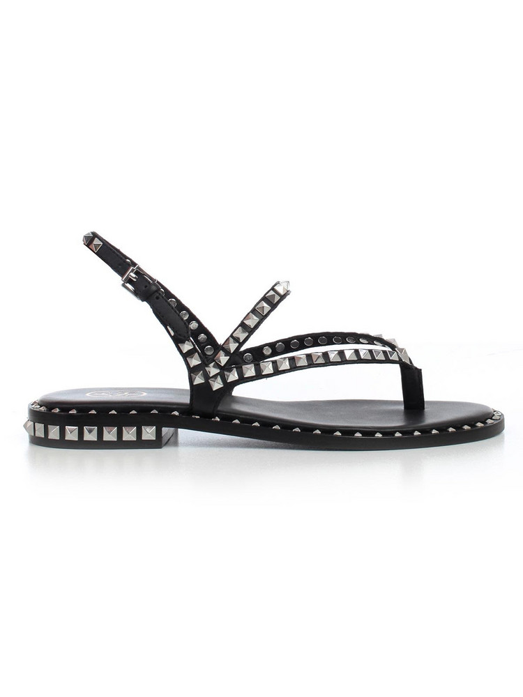 Ash Studded Sandals in black / silver
