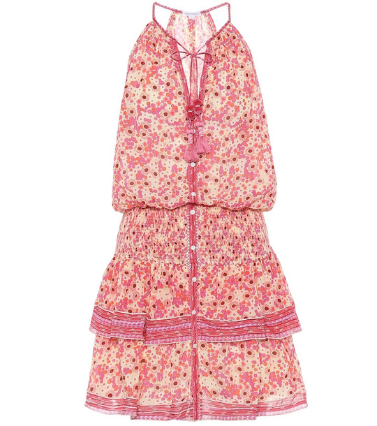 Poupette St Barth Kimi floral cotton minidress in pink