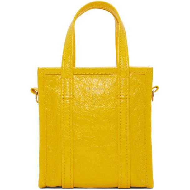 Balenciaga Yellow XXS Bazar Shopper Tote