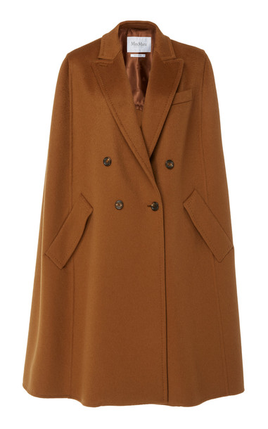 Max Mara Pampas Cashmere Cape Coat Size: 0 in brown