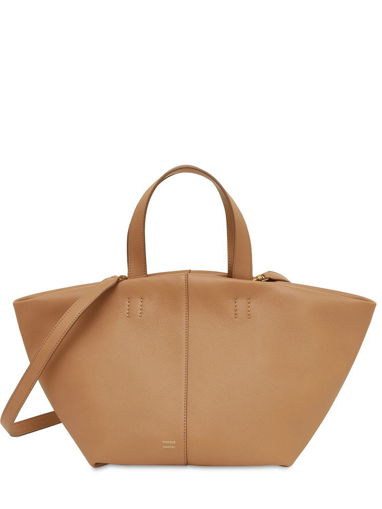 MANSUR GAVRIEL Leather Tulipano Top Handle Bag