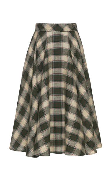 Lena Hoschek Charles Country Linen Skirt Size: S